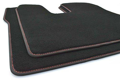 kh Teile LKW Fußmatten Man TGX (Rote Naht) Original Qualität Autoteppich, 2-teilig Fahrer+Beifahrermatte