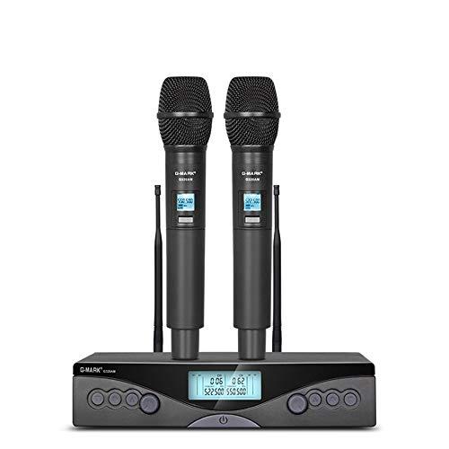 G-MARK G320AM Sistema de micrófono inalámbrico UHF profesional Micrófono karaoke Frecuencia ajustable 100M para fiesta en casa show studio karaoke