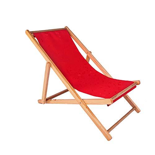 PLBB3K Silla de Playa de Madera sólida, Madera reclinable, Silla Plegable, Silla de Lona,...