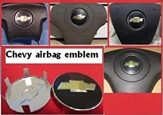 Replacement ONE Piece Chevy Bowtie Tahoe/Truck/Cobalt/ETC Metal AIRBAG AIR Bag Emblem Badge