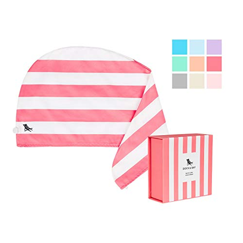 Hair Wrap Towel Beach Turban - Kuta Pink, One Size - Quick Dry, Compact, Lightweight -  Dock & Bay, 961190