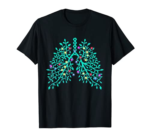 Terapeuta Respiratorio RT Terapia Sistema Respiratorio Luz Camiseta
