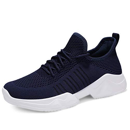 UUBARIS Women Soft Running Lightweight Walking Sneaker Gym Shoes for Women Leisure Navy Size 10