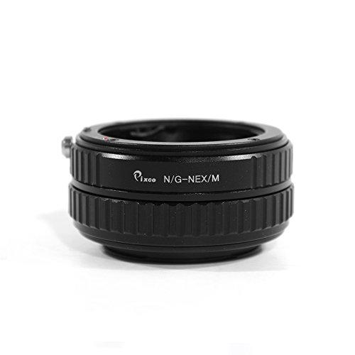 Pixco - Adaptador de Lente Ajustable Macro a Infinito para Objetivo Nikon G a Sony E Mount NEX A6500 A5100 A6000 A5000 A A7 A7s A7R NEX-5N NEX-5C NEX-C3