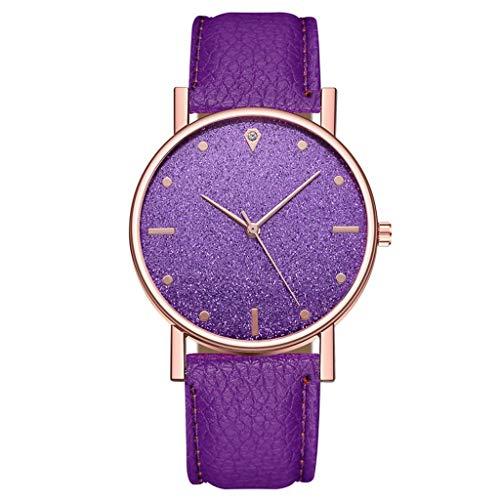 Bokeley Women's Watch, Women's Wrist Watches Women's Luxury Quartz Stainless Steel Dress Quartz Watch (Purple)