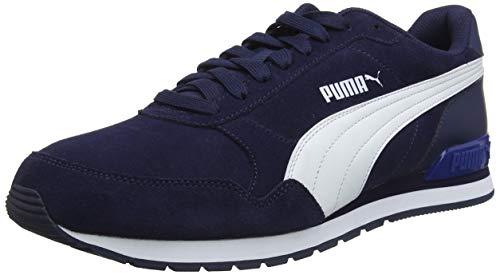 Puma Herren ST Runner v2 SD Sneaker, Peacoat White-Galaxy Blue, 44 EU