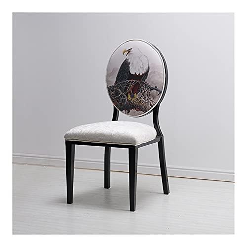 Silla en forma de ciruela de tela de franela, silla de comedor de animal lindo 3d, silla de espalda grande, silla de comedor de hierro, tema de olla caliente Restaurante Banquete Casa Moderno Silla tr