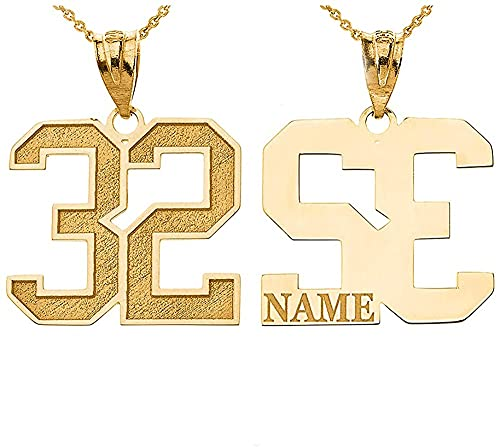 Customizable Number and Name Pendant
