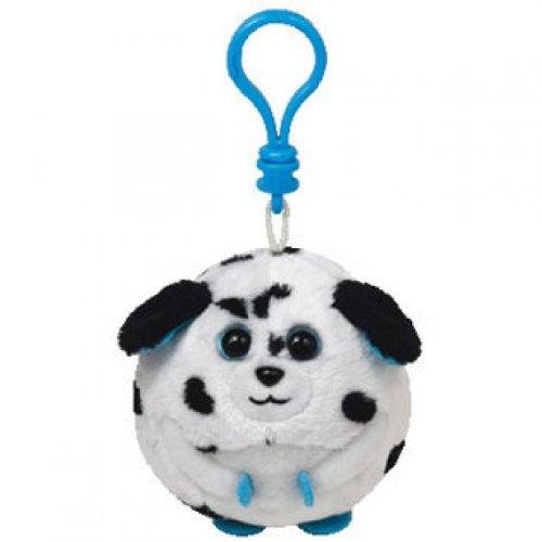 Ty Beanie Ballz Rascal Damatian Dog Keyclip