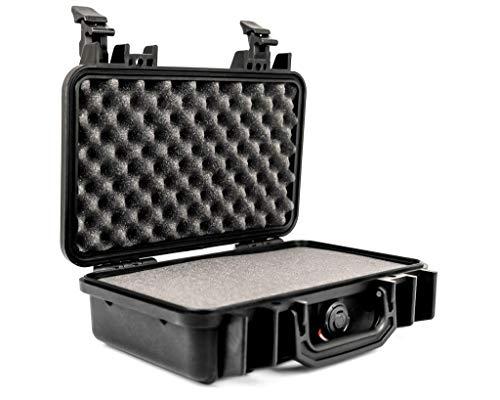 PELI 1170 Professioneller Kamerakoffer, IP67 Wasser- und Staubdicht, 3L Volumen, Hergestellt in den USA, Mit Schaumstoffeinlage (Anpassbar), Schwarz