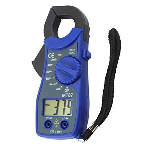 iwobi Multimetro Digitale con Pinza Amperometrica,Voltmetro Tester con Pinza,Misuratore di Corrente e Voltaggio CA/CC,Blu