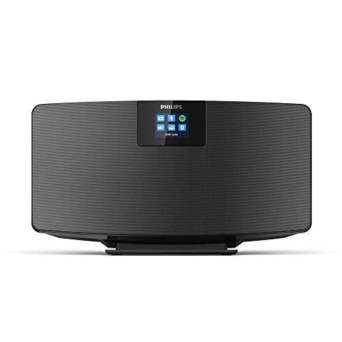 Philips M2805/10 Radio Internet, Radio Bluetooth, Bluetooth Multiplo, Wi-Fi, Spotify Connect, Funzione Allarme, Suono Stereo, Display TFT, Design Snello, Modello 2020/2021, Nero