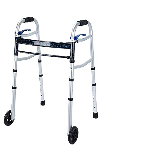 Healthline Trigger Release Aluminium Folding Walker with 5