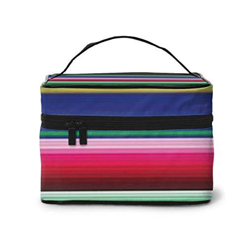 Novela Colorida Manta Mexicana Rayas Organizador cosmético