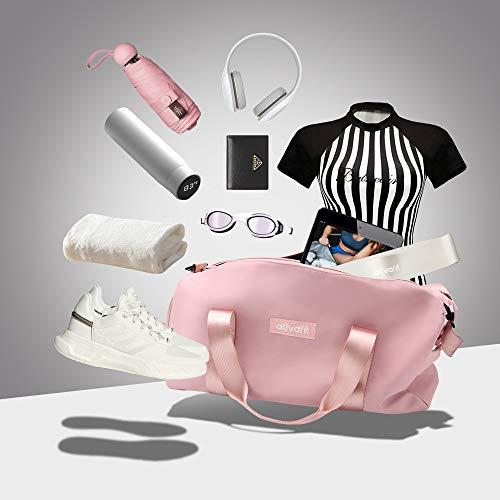 Bolso de gimnasio de cuero de PU para mujer, bolsos de deporte con tiras plateadas, bolso de viaje de hombro para Yoga, bolsa de equipaje