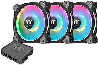 Thermaltake RIING LED Ultra Quiet High Airflow Carcasa del computadora Ventilador, 120mm Paquete Triple, Duo RGB