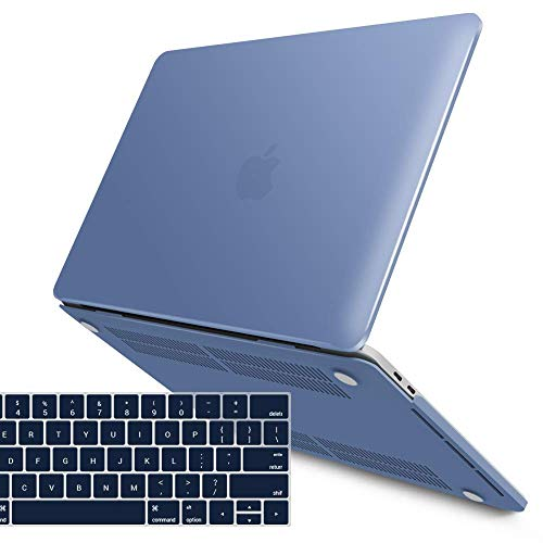 iBenzer MacBook Pro 15 Inch Case 2018 2017 2016 Release A1990 A1707, Soft Touch Hard Case Shell Cover for Apple MacBook Pro 15 with Touch Bar,Riverside,MMP15T-RVSD+1A