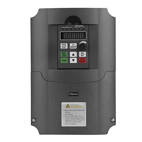 Unidad de frecuencia variable VFD, entrada monofásica de 220 VCA Salida trifásica de 380 VCA 7.5KW Control vectorial CNC VFD, convertidor inversor, para control de velocidad del motor