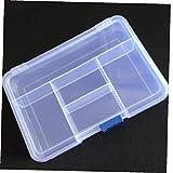CULER 1PC plástico Transparentes de Joyas 5 Compartimiento de Almacenamiento Caja del Anillo del Pendiente del Grano Bin envase del Caso