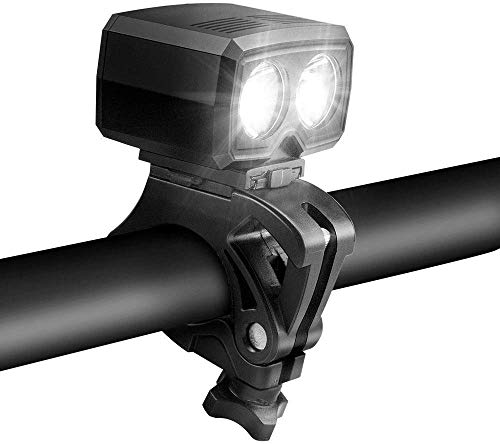 BicycleStore Front Bike Light, 1200mAh Battery LED USB Rechargeable Bicycle Light Waterproof Mountain Road Bike Lights Mini Super Bright Cycle Safety Headlights 2 LED XPE and 5 Modes Black