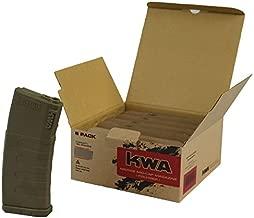 KWA Airsoft Magazines, AEG KM4 / KM16 (mid-cap) 120 round - 6 pack