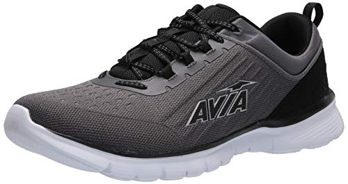 Avia Men's Avi-Factor Running Shoe, Asphalt/Jet Black/Silver, 13