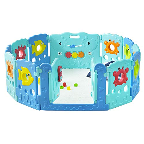 Fantastic Deal! YERWLAN Baby Play Fence Children's Play Fence Safety Fence Home Indoor Crawling Mat ...