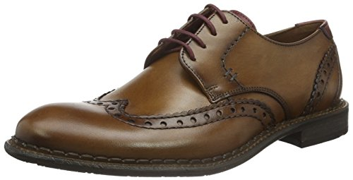 LLOYD Giles, Zapatos de Cordones Derby para Hombre, Braun Bordo 1 -...