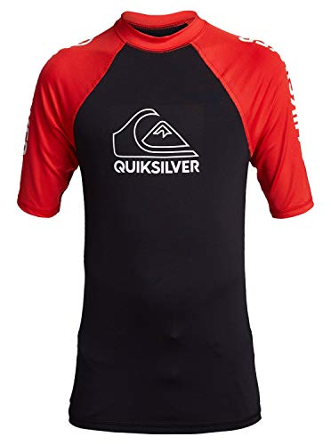 Quiksilver - Licra de Manga Corta con Protección Solar UPF 50 - Niños 8-16
