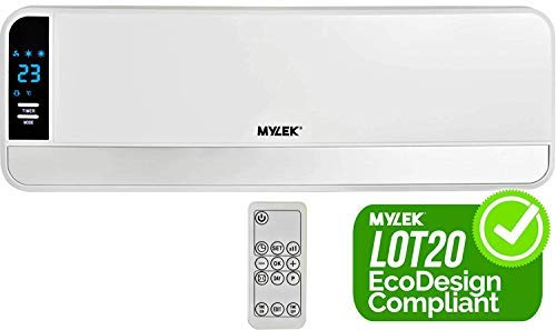 MYLEK 2kW Luxury Electric Over Door Heater/Fan Air Curtain with Thermostat, LED Display, Timer & Remote Control – ErP…