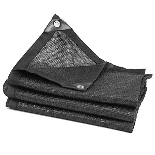NICEXMAS Pantalla de Tela Negra Borde con Cinta con Ojales Pantalla de Malla Solar Pantalla de Protección Solar Panel de Pantalla de Vela Tamaño L