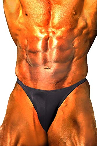 Andreas Cahling Pro Bodybuilding Physique Posing Swim Suit Wear Trunks Briefs (Black, L (32