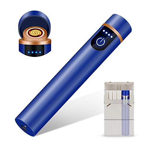 RiverMolars Y12 Briquet Electrique, Briquet USB Rechargeable avec Points d'arc et Indicateur de Puissance,...