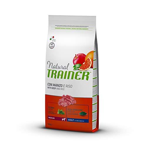 Trainer Cibo per Cani Adulti di Media Taglia Alimento Secco con Manzo e Riso, 12kg
