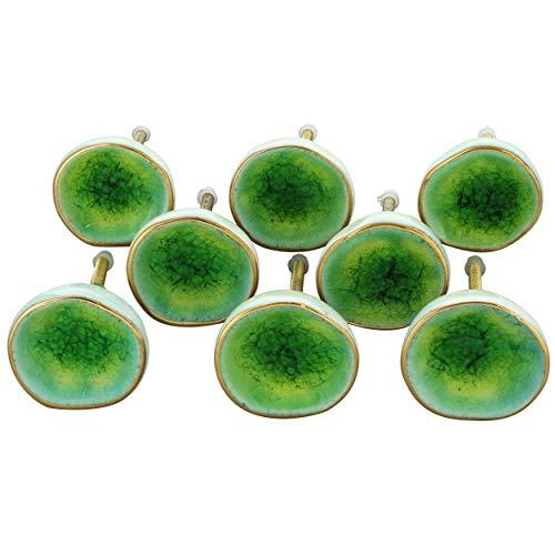 G Decor Sea Light Green Rhodes keramische deur knoppen Vintage Shabby chique kast lade Pull handgrepen