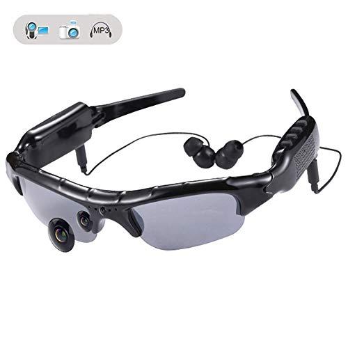 WOTUMEO Multifuncionales Gafas De Sol MP3 Mini DV DVR De La Cámara De Vídeo Espía De Los Vidrios De La Cámara Espía De Los Vidrios De Conducción + 8 GB Tarjeta Memoria