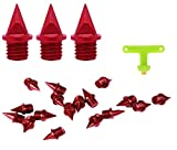 1/4 Inch (6mm) Carbon Steel Spikes Red -Toned Steel Track and Cross Country Spikes Upgrade Track Spikes (20 PCS)