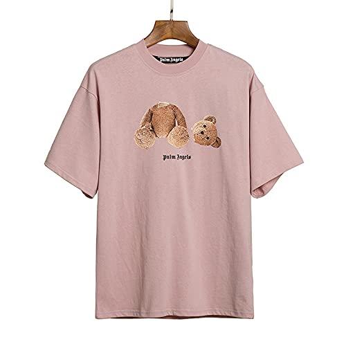 Palm Angels Bear de Manga Corta, Hombres y Mujeres, Pareja, Camiseta Suelta Hip-Hop Hip-Hop-C2_Metro