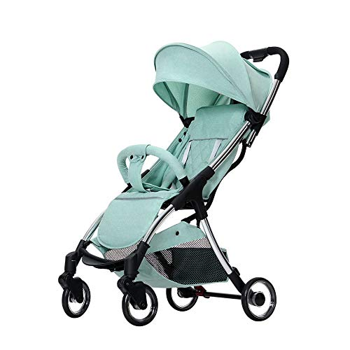 Review KOIUJ Stroller Foldable Luxury Baby Stroller Anti Shock Springs High View Pram Baby Stroller ...