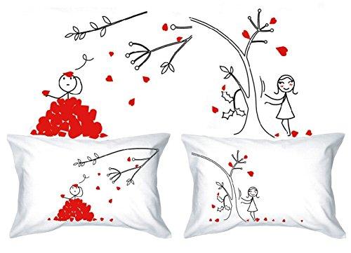 Human Touch - PE'TALOS del Amor - De El y de Ellas - Fundas de Almohada romántica Peculiar, Regalo de Boda, Regalo de San Valentín, o Simplemente para elevar una Sonrisa.
