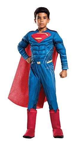 Rubie's unisex child Justice League s Deluxe Superman Costume, Superman Deluxe, Medium US
