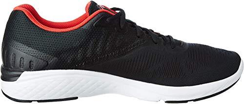 ASICS Gel-Promesa Herren Running Trainers T842N Sneakers Schuhe (UK 10.5 US 11.5 EU 46, Black red alert 001)
