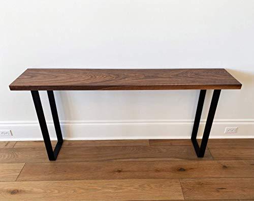Solid Black Walnut Narrow Console Table