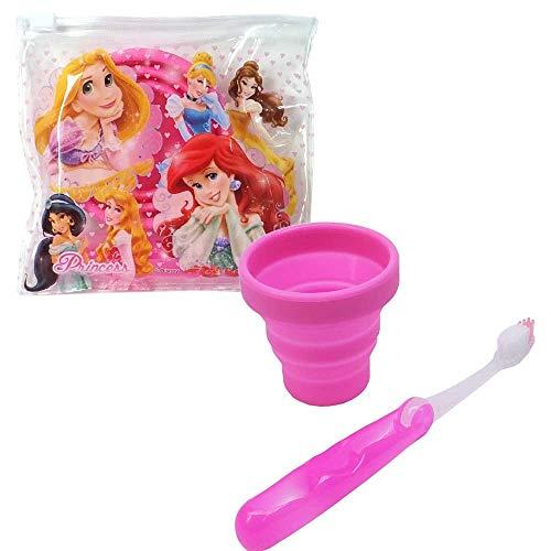 歯ブラシ&コップセット プリンセス 27373 キャラクター Disney ディズニー オーラルケア 歯磨き 洗面所 子供 キッズ