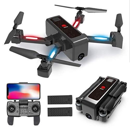 Fällbar GPS Drone, 5G WiFi FPV live video, med dubbla kameror UFO drones, med 4K HD-kamera live video, 30mins flygtid, 500m fjärrkontroll avstånd med förvaringslåda Detazhi