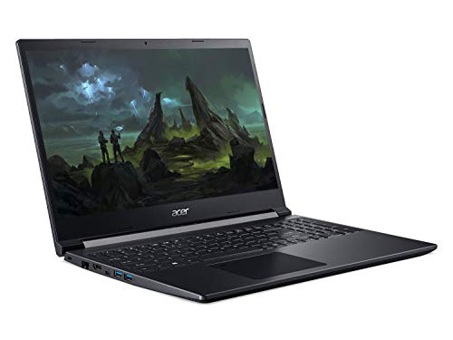 Acer Aspire 7 A715-75G 15.6 inch Gaming Laptop (Intel Core i5-9300H, 8GB RAM, 512GB SSD, NVIDIA GTX 1650Ti, Full HD Display, Windows 10, Black)