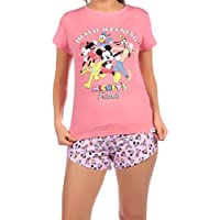 Disney Pijama para Mujer Mickey Mouse Minnie Mouse y y Amigos Rosa Large