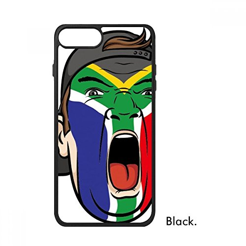 DIYthinker Zuid-Afrika Nationale Vlag Facial Schilderen Make-up Masker schreeuwen Cap Voor iPhone 7 Cases Phonecase Apple Cover Case Gift, iPhone 7 Plus case