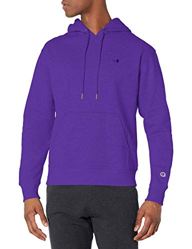 Champion Men's Powerblend Pullover Hoodie, Purple, Small
