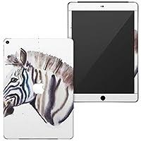 igsticker 第6世代 第5世代 iPad 9.7インチ iPad 6 / 5 2018/2017年 モデル A1893 A1954 A1822 A1823 全面スキンシール apple アップル アイパッド タブレット tablet シール ステッカー ケース 保護シール 背面 016064 しまうま 水彩 かっこいい